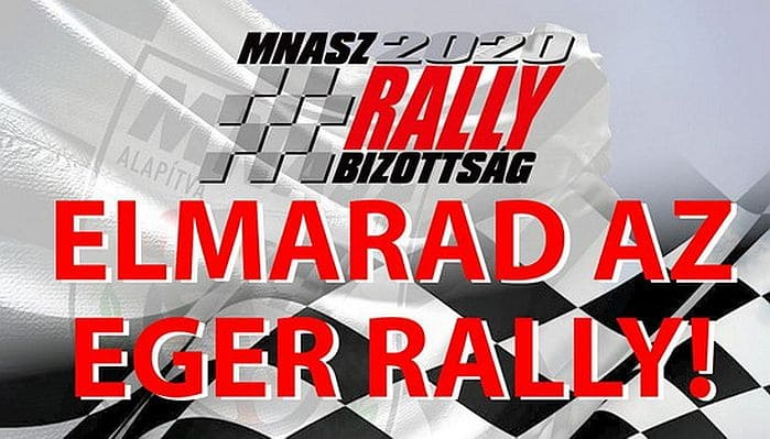 Elmarad az Eger Rally!