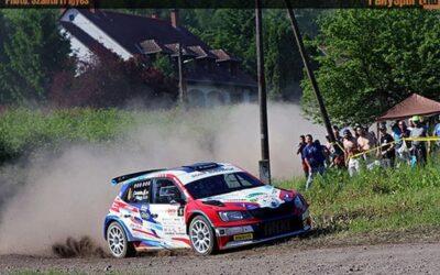 Első futamgyőzelmét ünnepelte Csomós a Salgó Rallyn